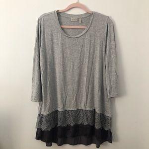 LOGO | 3/4 Sleeve Lace Blouse